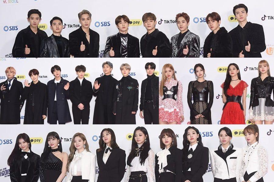 Stars Shine On Red Carpet At 2018 SBS Gayo Daejeon