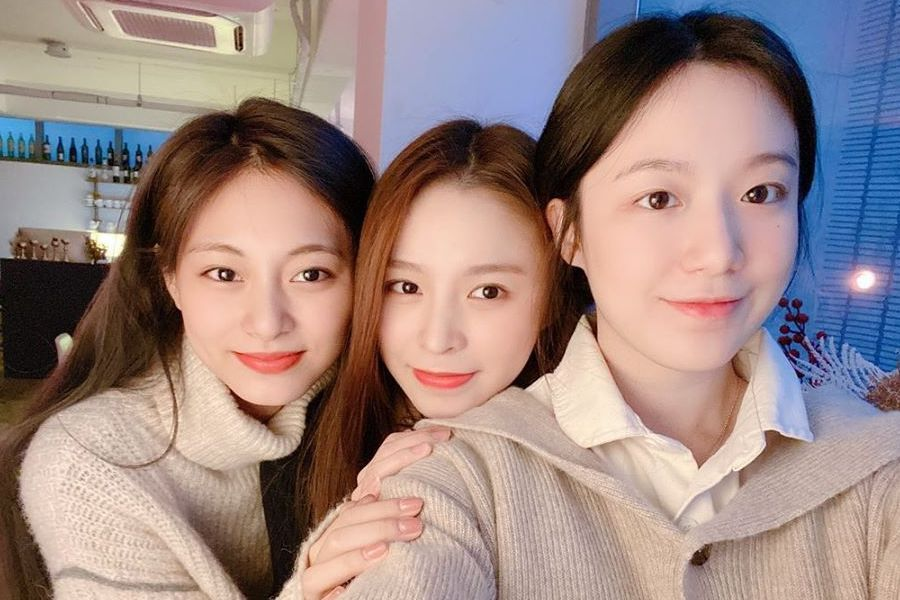 G I Dle S Shuhua Celebrates Birthday With Twice S Tzuyu And Clc S Elkie Soompi