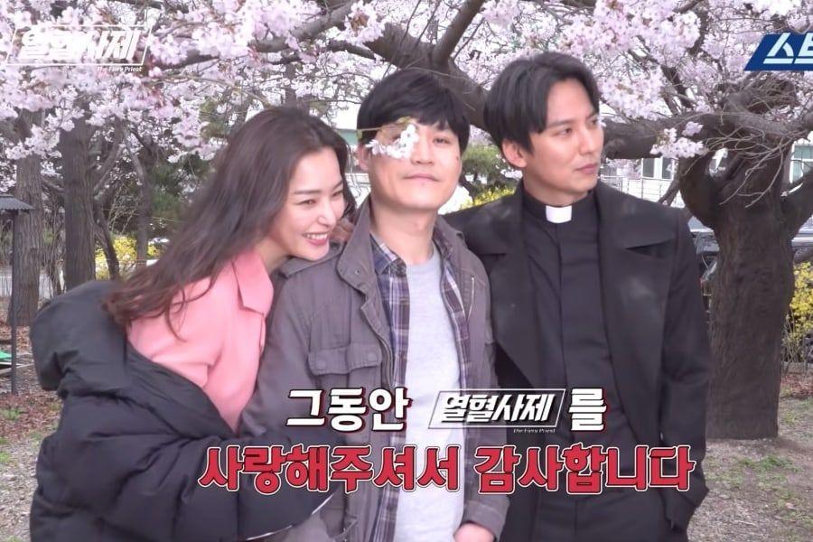 "Honey Lee, Kim Sung Kyun, And Kim Nam Gil Say Heartfelt Goodbyes To ""The Fiery Priest"""