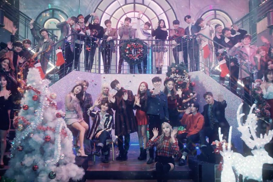 "Uita-te: Artists Starship Arunca Distracție Holiday Party Pentru ""Timp de Craciun"" MV"