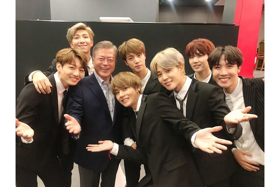 BTS Meets South Korean President Moon Jae In After Friendship Concert In Paris
