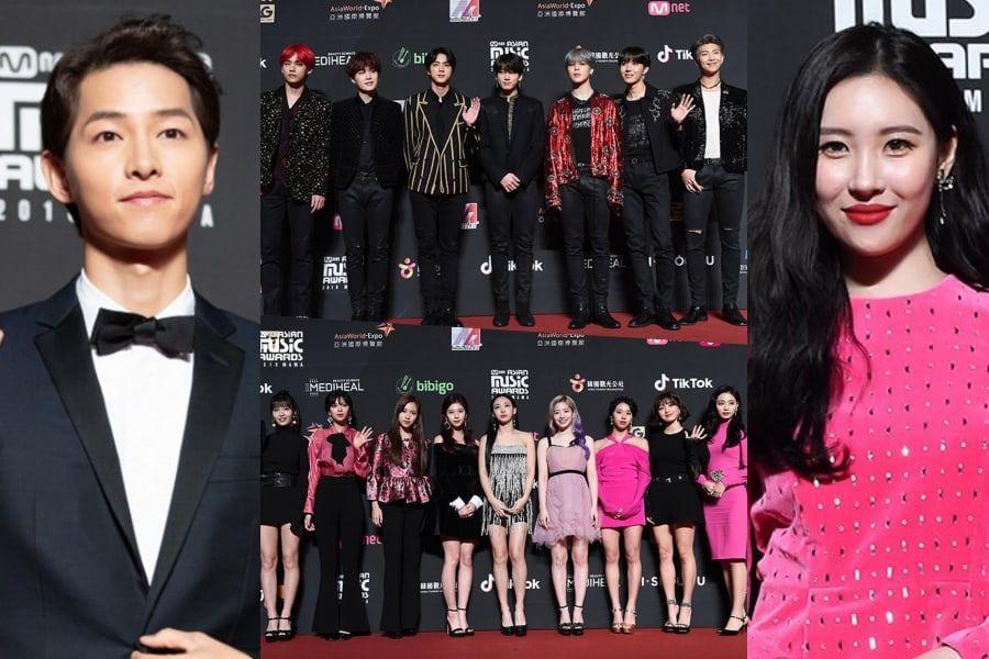 Stars Dazzle On Red Carpet At 2018 MAMA In Hong Kong