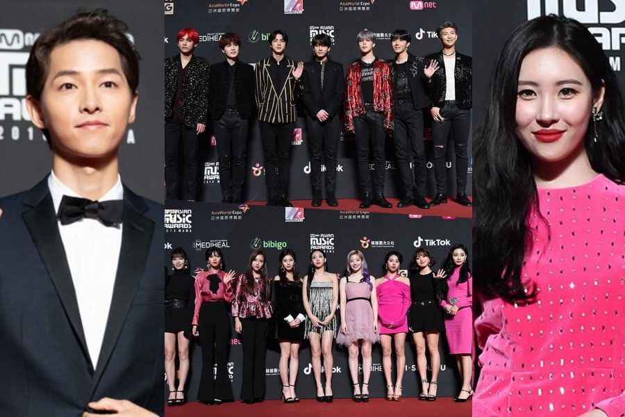 Stars Dazzle On Red Carpet At 2018 MAMA In Hong Kong