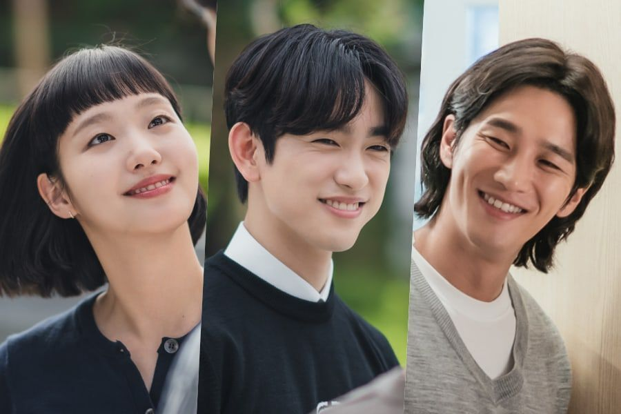 """Kim Go Eun, GOT7's Jinyoung, Ahn Bo Hyun, And Lee Sang Yi Are All Smiles Behind The Scenes Of """"Yumi's Cells"""""""