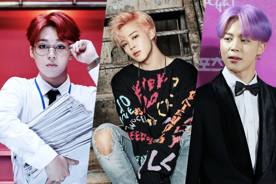 A True Chameleon: BTS's Jimin's 10 Most Iconic Hair Colors