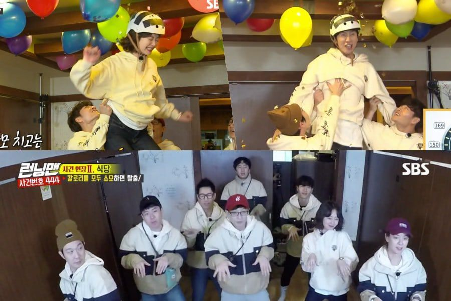 "Running Man"" Cast Shows Great Teamwork + Has Fun Dancing To"