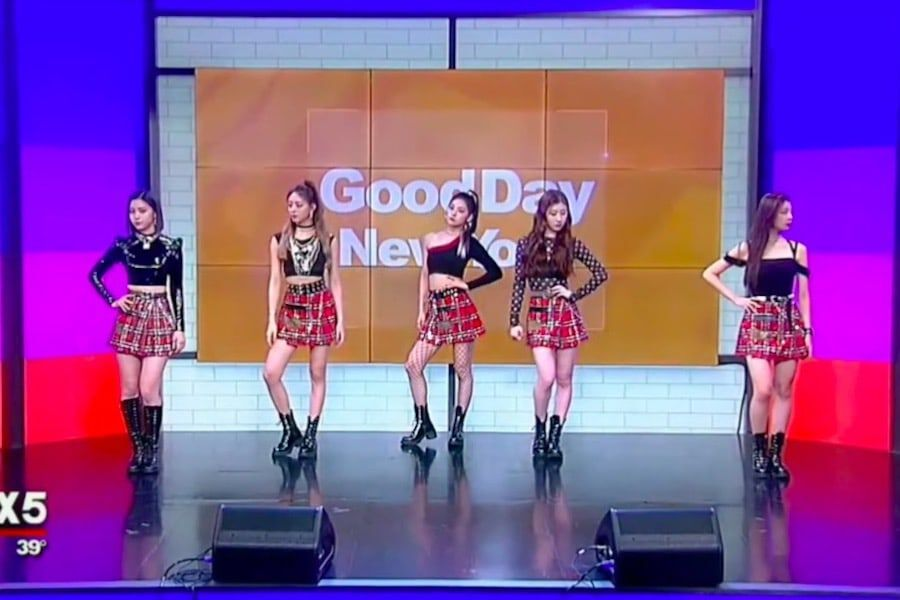 """Watch: ITZY Brings """"DALLA DALLA"""" To """"Good Day New York"""" For U.S. TV Debut"""