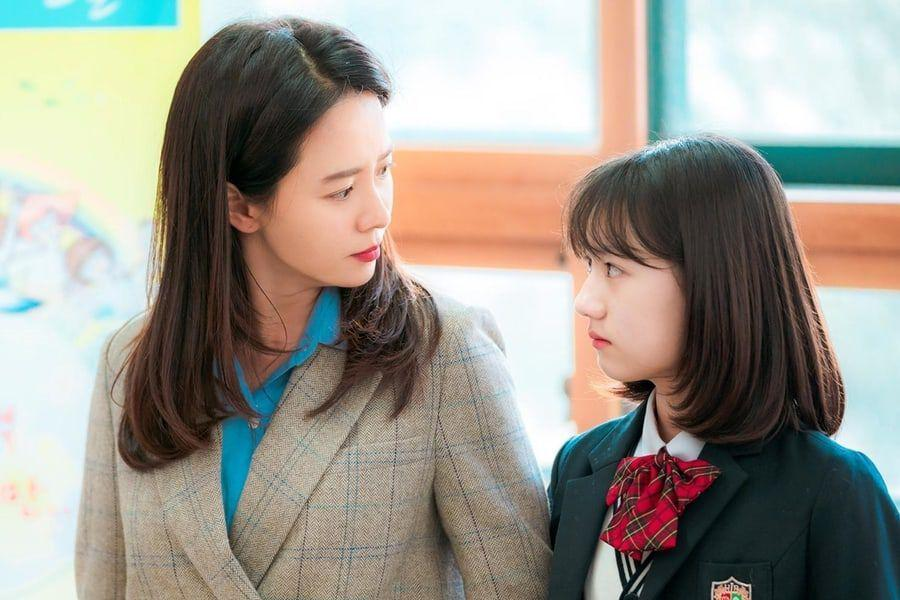 """Song Ji Hyo Shares Love For On-Screen Daughter Uhm Chae Young In Upcoming Rom-Com """"Was It Love?"""""""