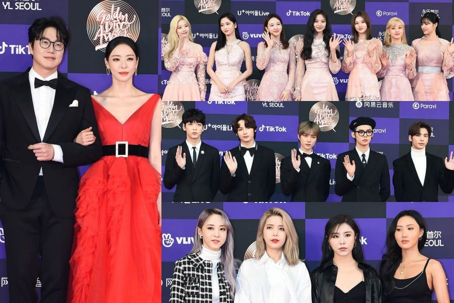 Stars Walk The Red Carpet At First Day Of 34th Golden Disc Awards