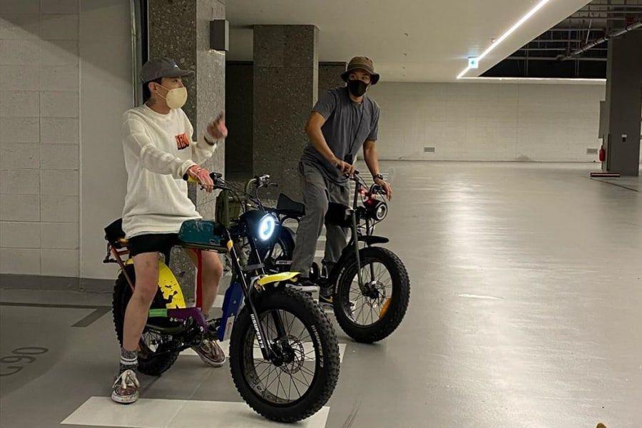 G-Dragon de BIGBANG pasea en bicicleta con su cuñado Kim Min Joon