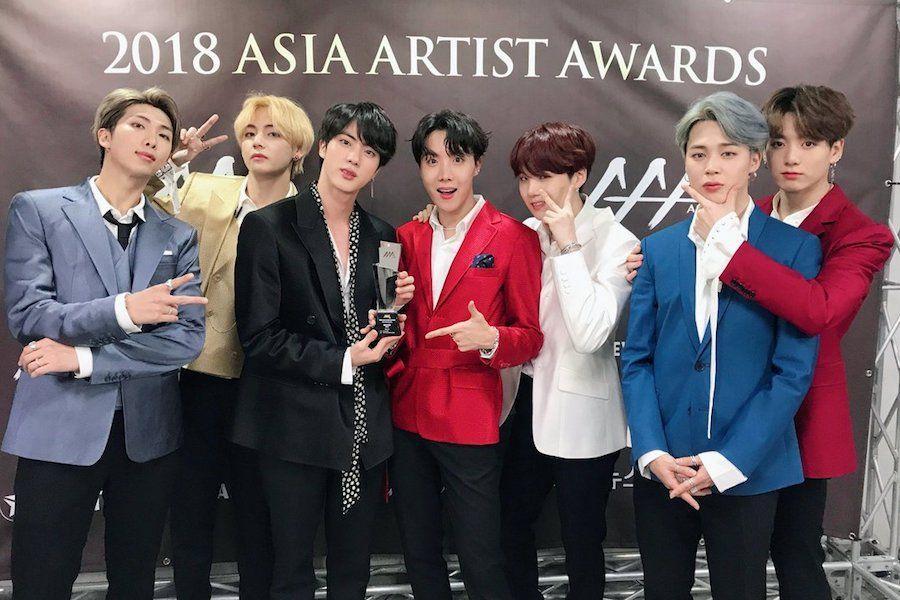 Bts Wins Daesang For Artists At 2018 Asia Artist Awards Soompi