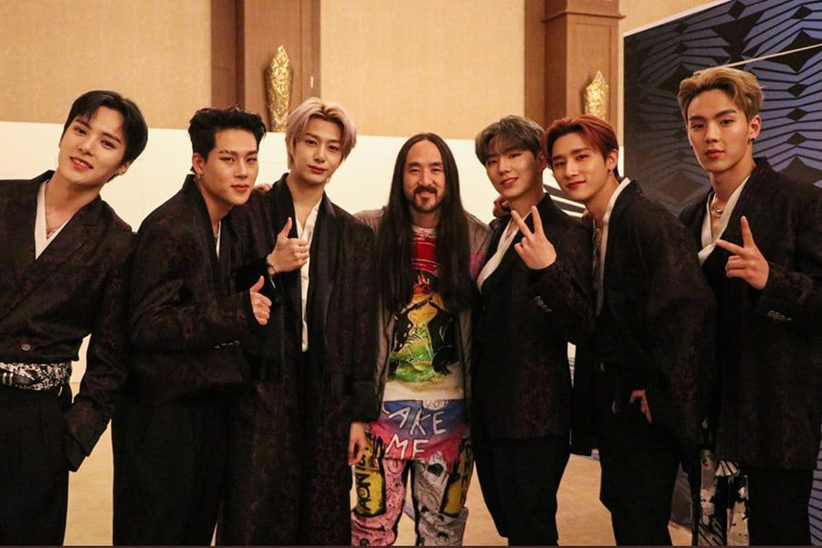 MONSTA X And Steve Aoki Reunite For Collaboration Performance