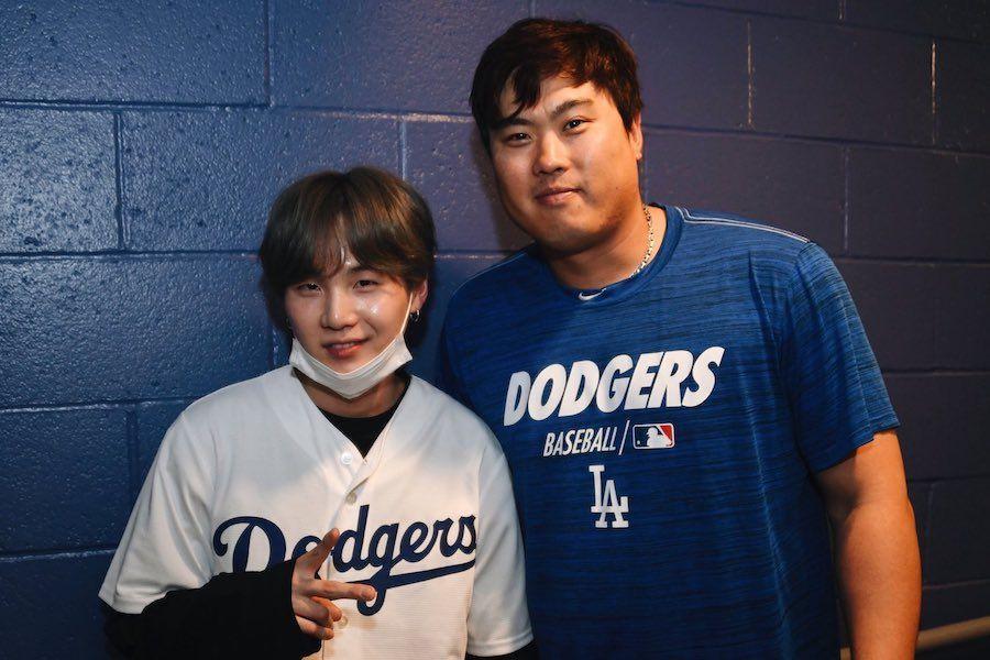 BTS' Suga Congratulates LA Dodgers Pitcher Ryu Hyun Jin Following Impressive Game