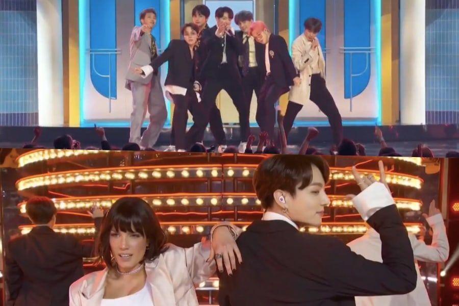"""BTS y Halsey cantan """"Boy With Luv"""" juntos por primera vez en los """"2019 Billboard Music Awards"""""""