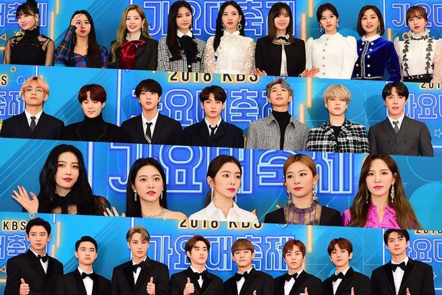 Stele Rock Covorul Roșu La 2018 KBS Song Festival