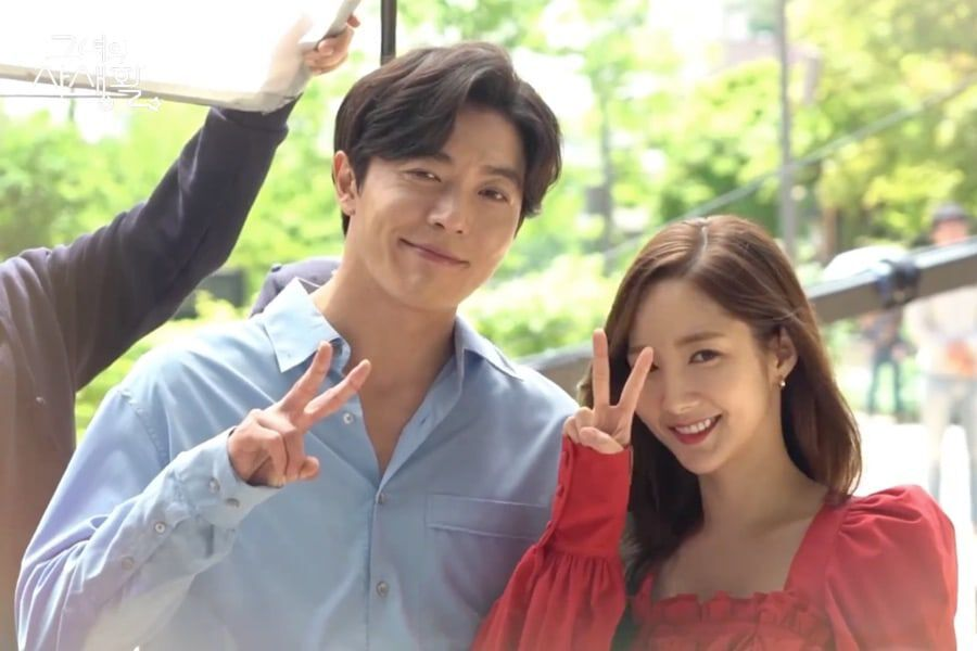 "Watch: Kim Jae Wook And Park Min Young Bid Farewell To ""Her Private Life"" In Last Making Video"