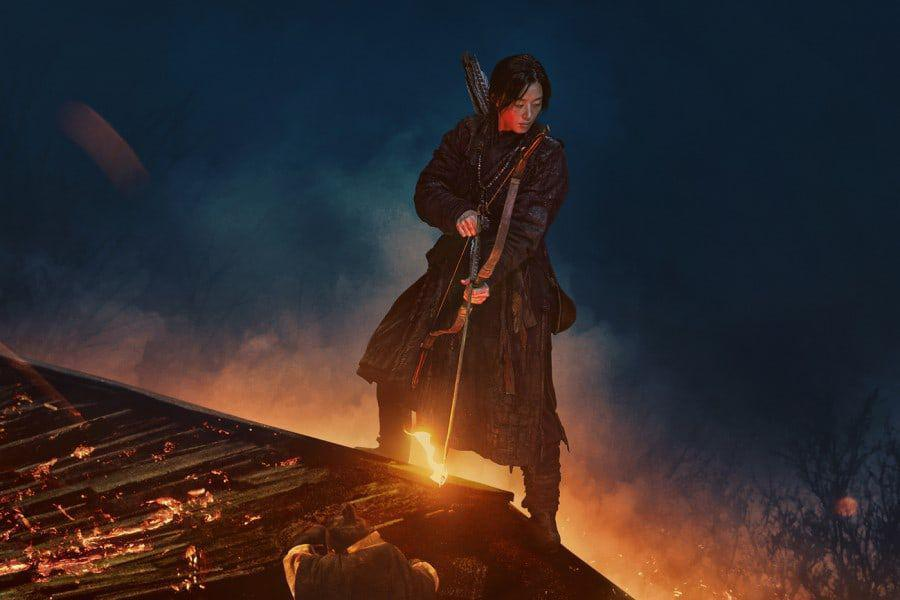 """Jun Ji Hyun Remains Calm In The Face Of Grave Danger In """"Kingdom: Ashin Of The North"""" Poster"""