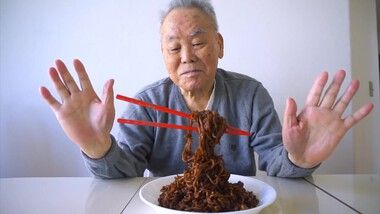 Angela Minji Kim Episode 3: FLYING NOODLES PRANK ON MY GRANDPARENTS 🍜