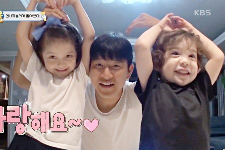 """Na Eun y Gun Hoo vuelven a unirse a """"The Return Of Superman"""" + Bailan con BTS en un nuevo y caótico adelanto"""