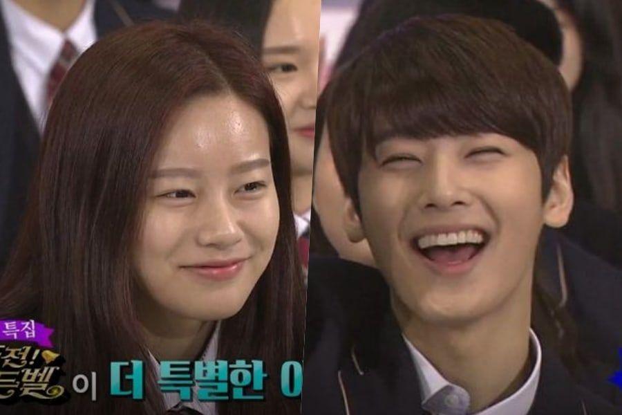 Menurut Park Yoo Na rupanya Cha Eun Woo sudah populer sejak sebelum debut karena wajahnya yang ganteng (dok. Soompi)