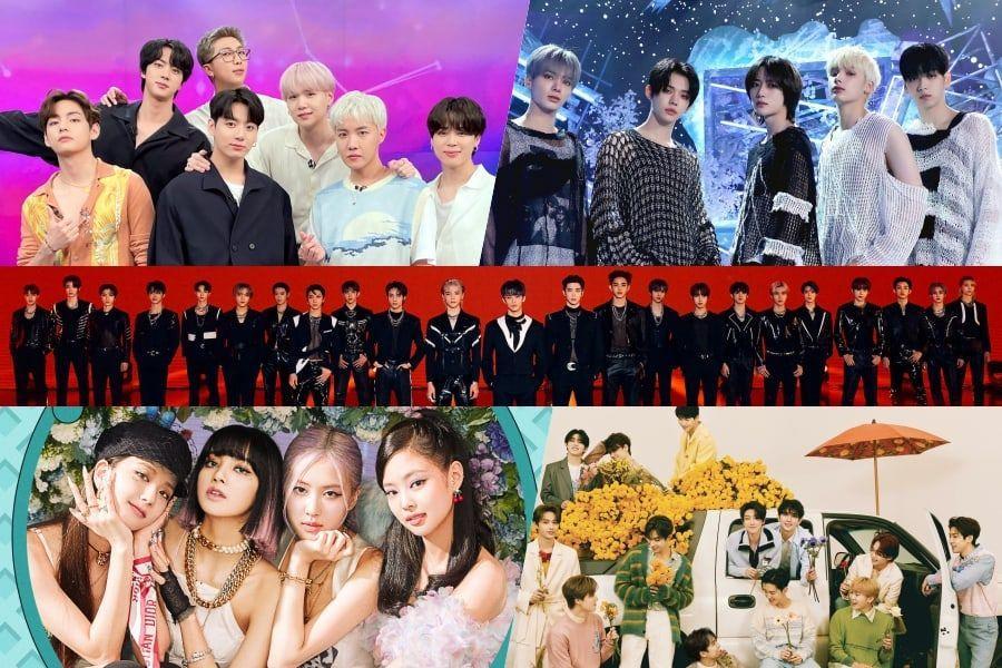 BTS, TXT, BLACKPINK, DEZESSETE e NCT reivindicam os melhores lugares na parada de álbuns mundiais da Billboard