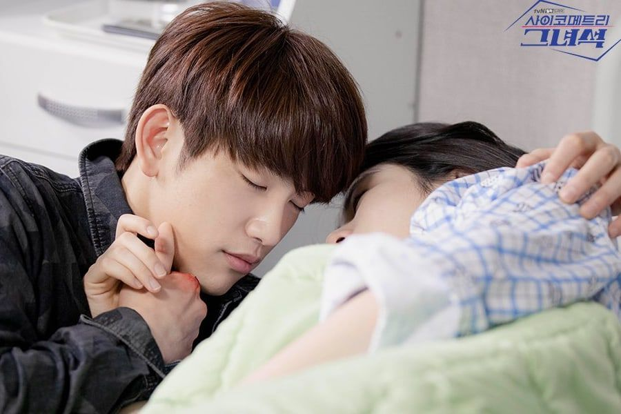 """""""He Is Psychometric"""" Reveals New Behind-The-Scenes Photos of GOT7's Jinyoung And Shin Ye Eun"""