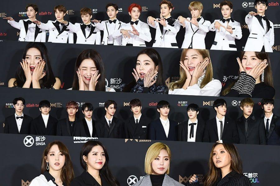 Las estrellas brillan en la alfombra roja de los 2018 Korea Popular Music Awards