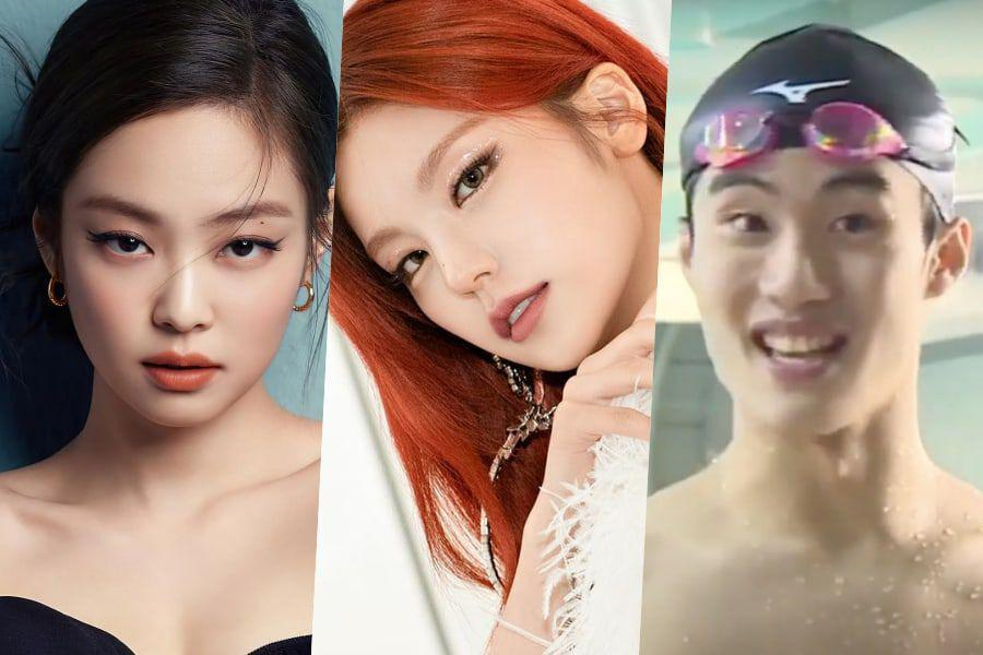 BLACKPINK's Jennie & ITZY's Yeji Cheer On Olympic Swimmer Hwang Sun Woo After He Reveals He's Their Fan
