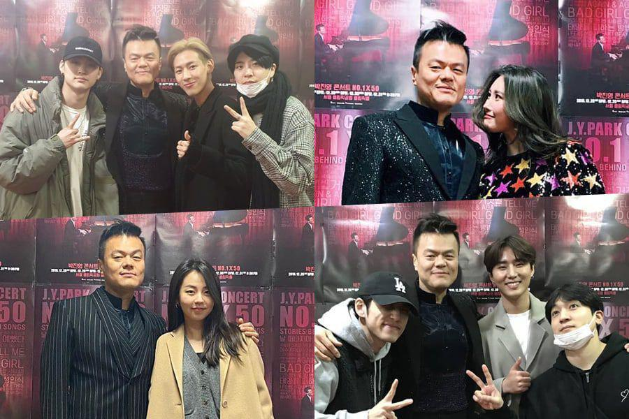 Former And Current JYP Artists Show Support At Park Jin Young's Concert In Seoul