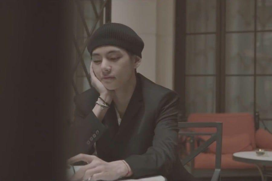 watch bts s v delivers all the feels with beautiful new english language song winter bear and