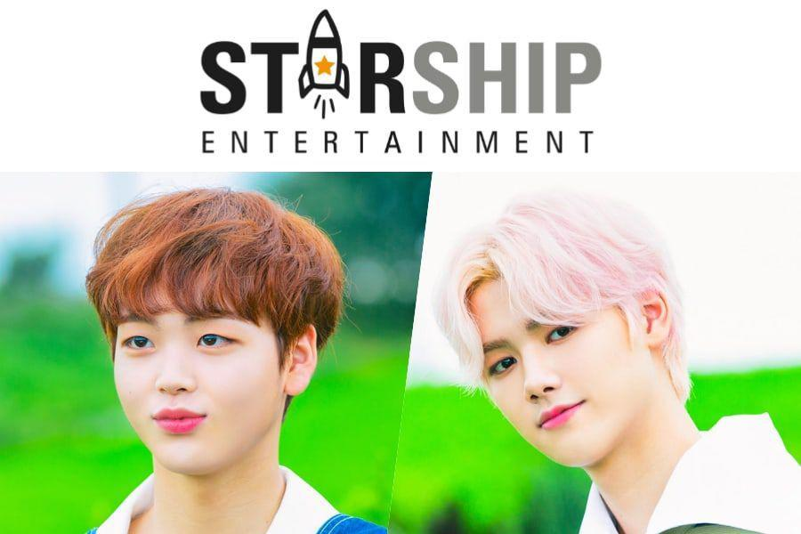Starship Entertainment Announces New Boy Group Including Song Hyeong Jun And Kang Min Hee