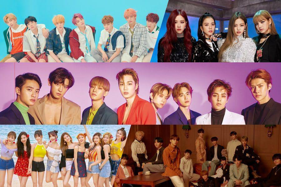 BTS, EXO, TWICE, BLACKPINK și SEVENTEEN Platinum certificat oficial de Gaon