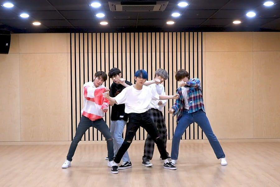 "Watch: TXT Impresses With Seamless ""Run Away"" Dance Practice Video"