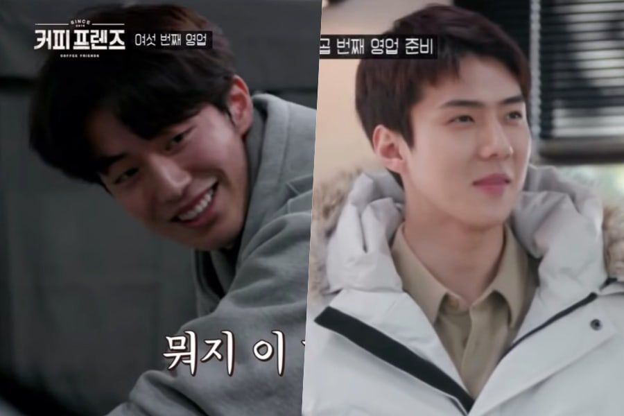 """Nam Joo Hyuk And EXO's Sehun Put In A Hard Day's Work At """"Coffee Friends"""""""