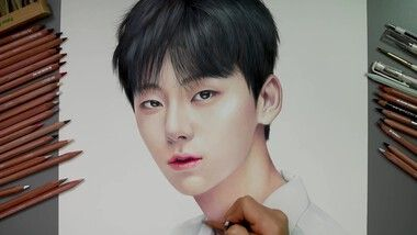 Drawing Hands Episode 71: Speed Drawing Wanna One's Hwang Min Hyun