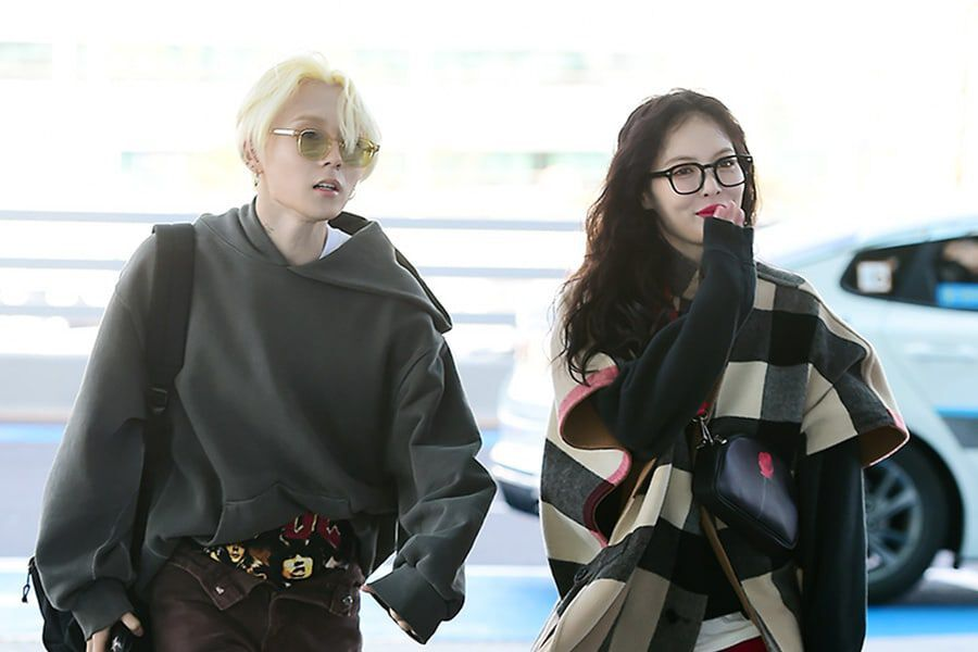 HyunA And E'Dawn Dress To The Nines While Heading To Paris