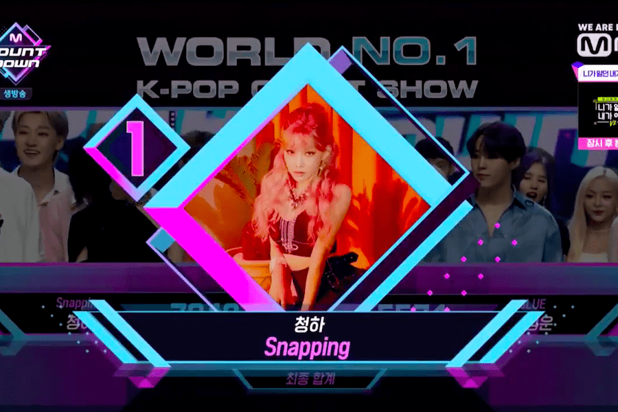 "Watch: Chungha Snaps Up 6th Win For ""Snapping"" On ""M Countdown""; Performances By Ha Sung Woon, DAY6, PENTAGON, And More"